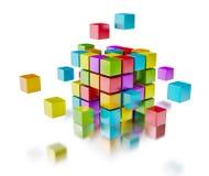 Concept de communication d'Internet de travail d'équipe d'affaires Photographie stock
