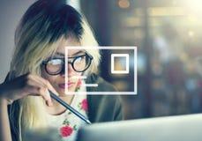 Concept de communication de boîte de réception de message électronique de courrier photographie stock