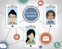 Concept de communication de réseau Photo libre de droits