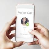 Concept de communication de réseau de conférence téléphonique images libres de droits