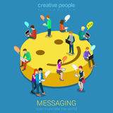 Concept de communication de transmission de messages de causerie Photos stock