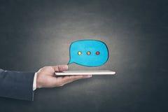 Concept de communication en ligne photos libres de droits