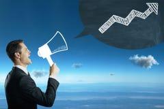 Concept de communication et de finances Photos libres de droits