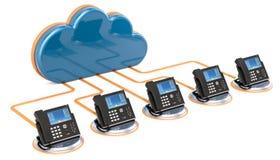 Concept de communication de VoIP rendu 3d illustration libre de droits