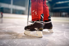 Concept de compétition sportive de hockey sur glace photos stock