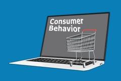 Concept de comportement du consommateur Images stock
