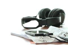 Concept de composition de musique Photographie stock libre de droits