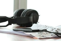 Concept de composition de musique avec le DOF peu profond Photos libres de droits