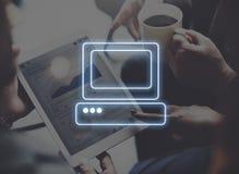 Concept de comprimé de Digital de connexion d'ordinateur Image stock