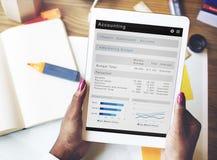 Concept de comptabilité d'opérations bancaires d'économie d'affaires de finances Photographie stock libre de droits