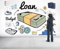 Concept de comptabilité d'opérations bancaires d'économie d'emprunt Photo libre de droits