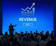 Concept de comptabilité de finances d'économie de revenu Photographie stock libre de droits