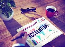 Concept de comptabilité de gestion bancaire d'affaires de finances Images libres de droits