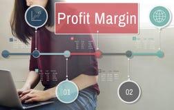 Concept de comptabilité de revenu de ventes de revenu de finances de marge bénéficiaire photo libre de droits