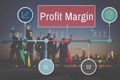 Concept de comptabilité de revenu de ventes de revenu de finances de marge bénéficiaire images libres de droits
