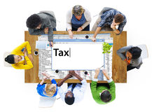 Concept de comptabilité financier d'économie de paiement d'impôts Images stock