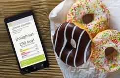 Concept de compte de calorie image libre de droits