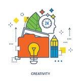Concept de conception créative illustration de vecteur