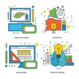 Concept de conception créative, formation de cerveau, innovation, Web illustration libre de droits