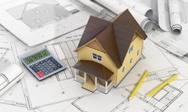Concept de conception de construction et d'architecte Photo libre de droits