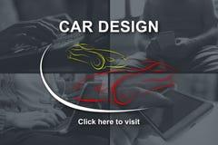 Concept de conception de voiture image libre de droits