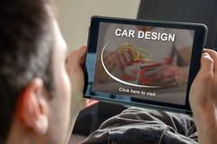 Concept de conception de voiture image stock