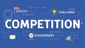 Concept de concurrence Idée de course et d'ambition d'affaires illustration de vecteur