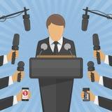 Concept de conférence de presse d'entrevue photos stock