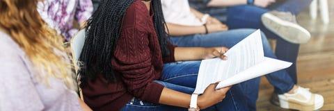 Concept de conférence de Study Classmate Classroom d'étudiant images stock