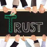 Concept de confiance Images stock