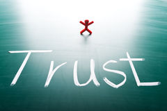 Concept de confiance de client Images libres de droits