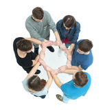 Concept de confiance et d'association - l'équipe d'université studen Photo stock