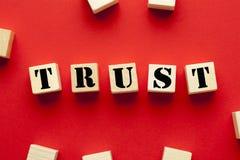 Concept de confiance de Word images libres de droits