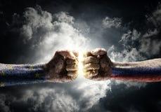 Concept de conflit Photos libres de droits