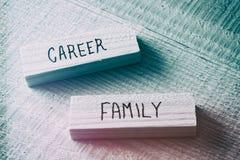 Concept de conflit de famille et de carrière rétro filtré et modifiée la tonalité Photographie stock