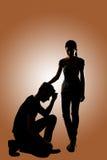 Concept de confort de couples Image stock