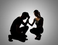Concept de confort de couples Images stock