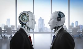 Concept de confrontation de technologie