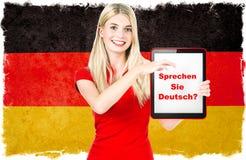 Concept de connaissance des langues allemandes Photographie stock libre de droits