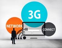 concept de connexion d'innovation de technologie de la mise en réseau 3G Photographie stock libre de droits