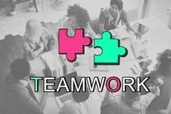 Concept de connexion de collaboration d'Alliance de travail d'équipe Photo libre de droits