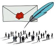Concept de connexion de communication de correspondance de courrier Images stock