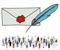 Concept de connexion de communication de correspondance de courrier illustration stock