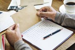 Concept de connexion de communication de correspondance de courrier de lettre image libre de droits