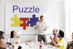 Concept de connexion de coopération d'association de puzzle image stock