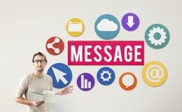 Concept de connexion de messages de graphiques de technologie Photos stock