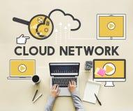 Concept de connexion de storage technology de réseau de nuage illustration stock