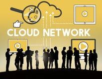 Concept de connexion de storage technology de réseau de nuage illustration libre de droits