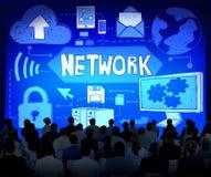 Concept de connexion de système informatique de réseau Image libre de droits