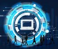 Concept de connexion de technologie de l'information d'ordinateur Image libre de droits
